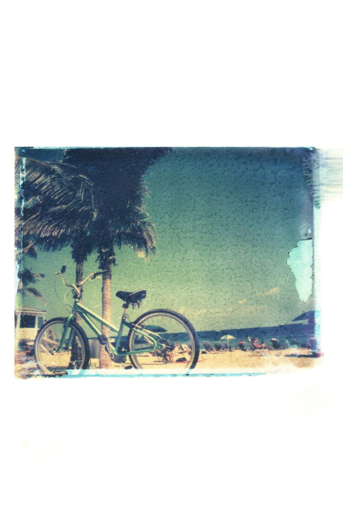 Alternate Image 1 Selected - She Hit Pause Studios 'Beach Bicycle' Wall Art