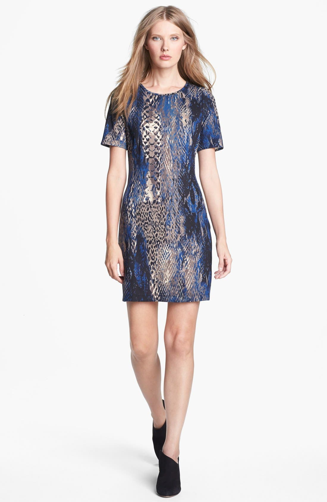 Alternate Image 1 Selected - Collective Concepts Print Body-Con Dress