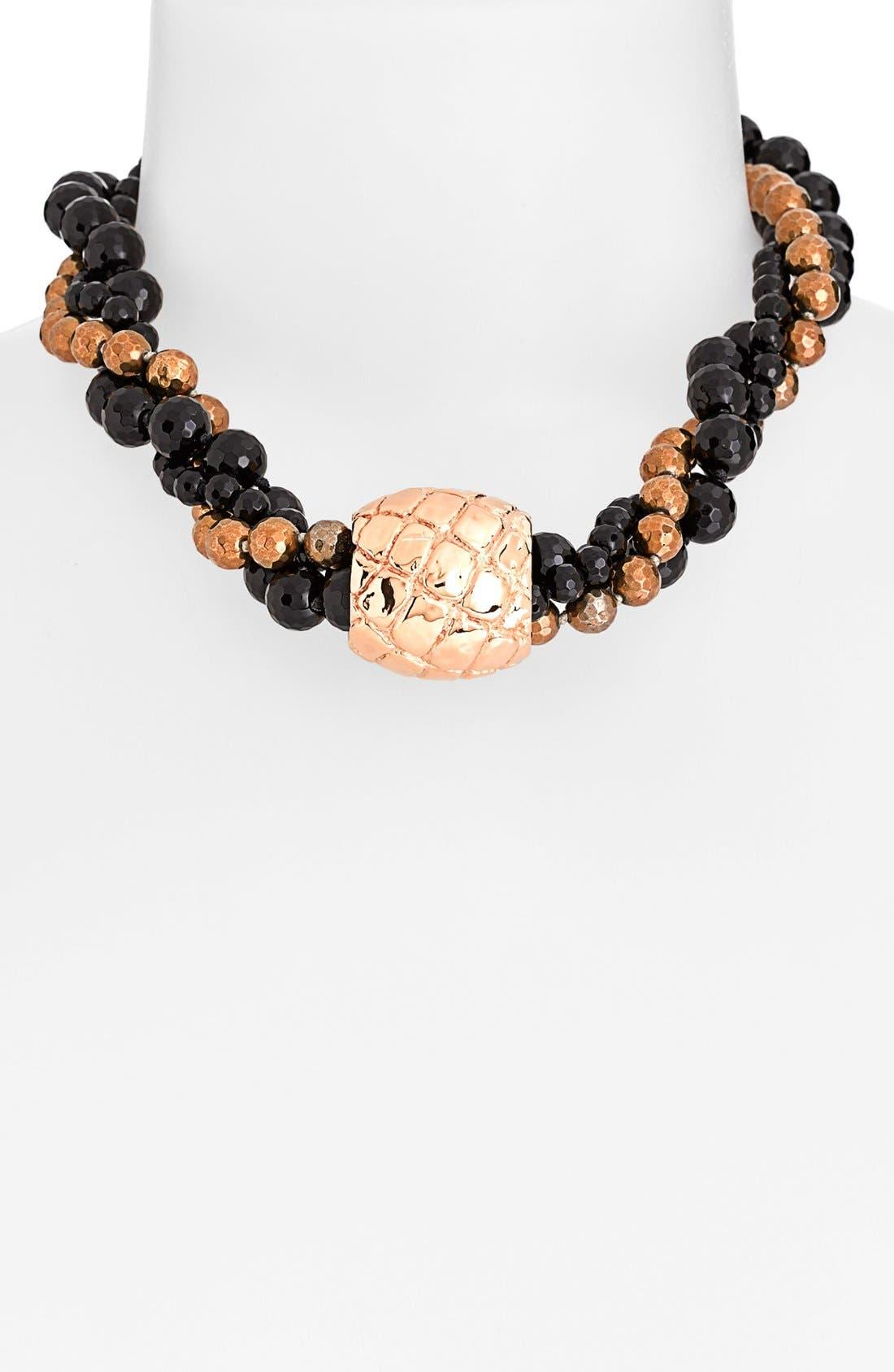 Main Image - Simon Sebbag 'Gold Crocodile' Multistrand Beaded Necklace