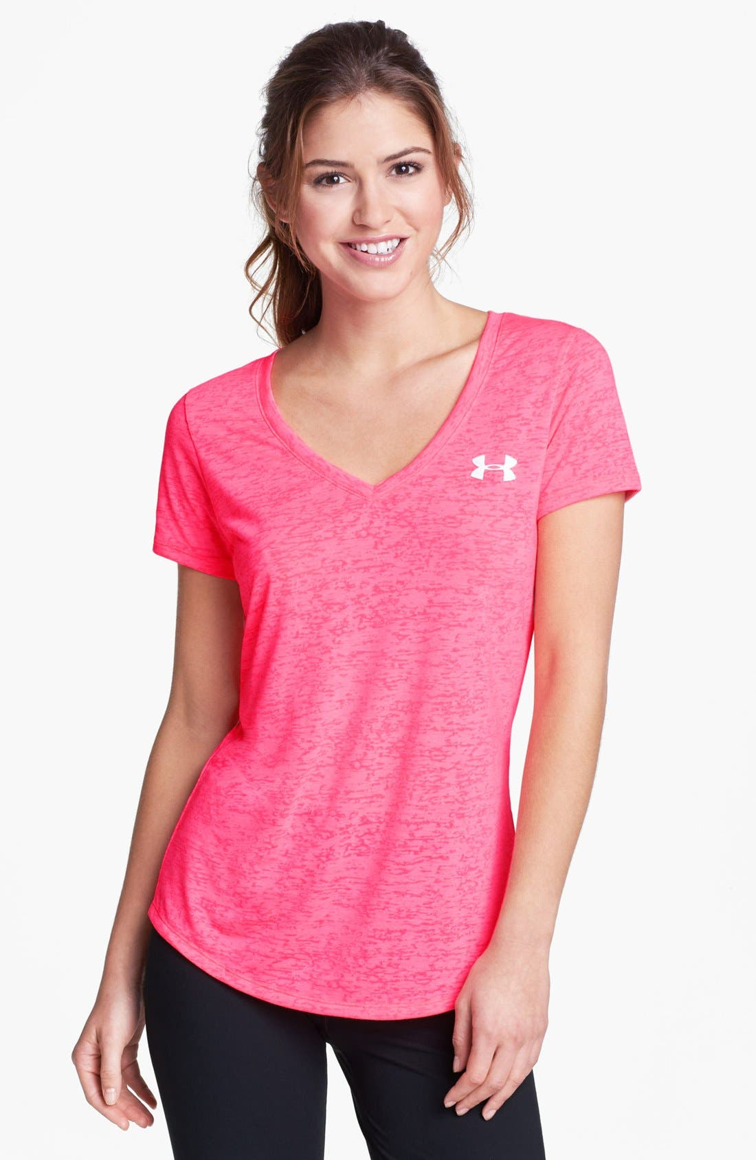 Alternate Image 1 Selected - Under Armour 'Power in Pink Achieve' Tee