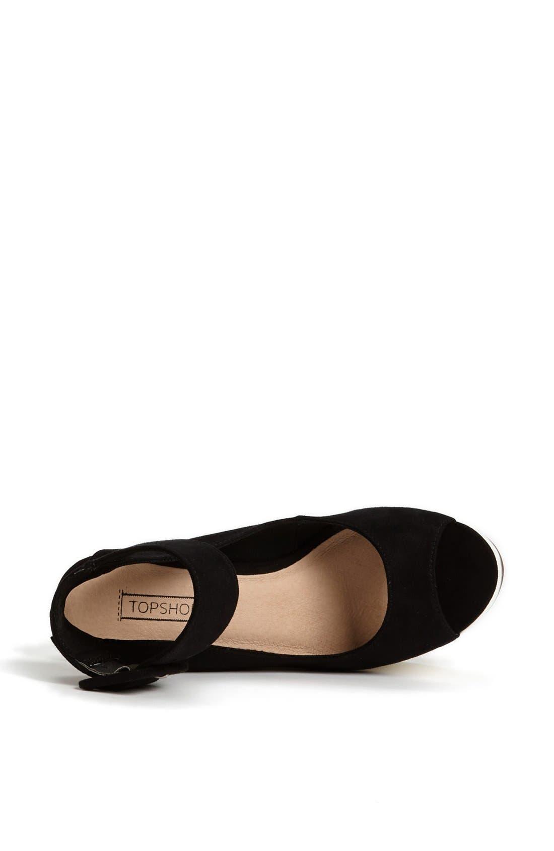 Alternate Image 3  - Topshop 'Star' Ankle Strap Platform Sandal