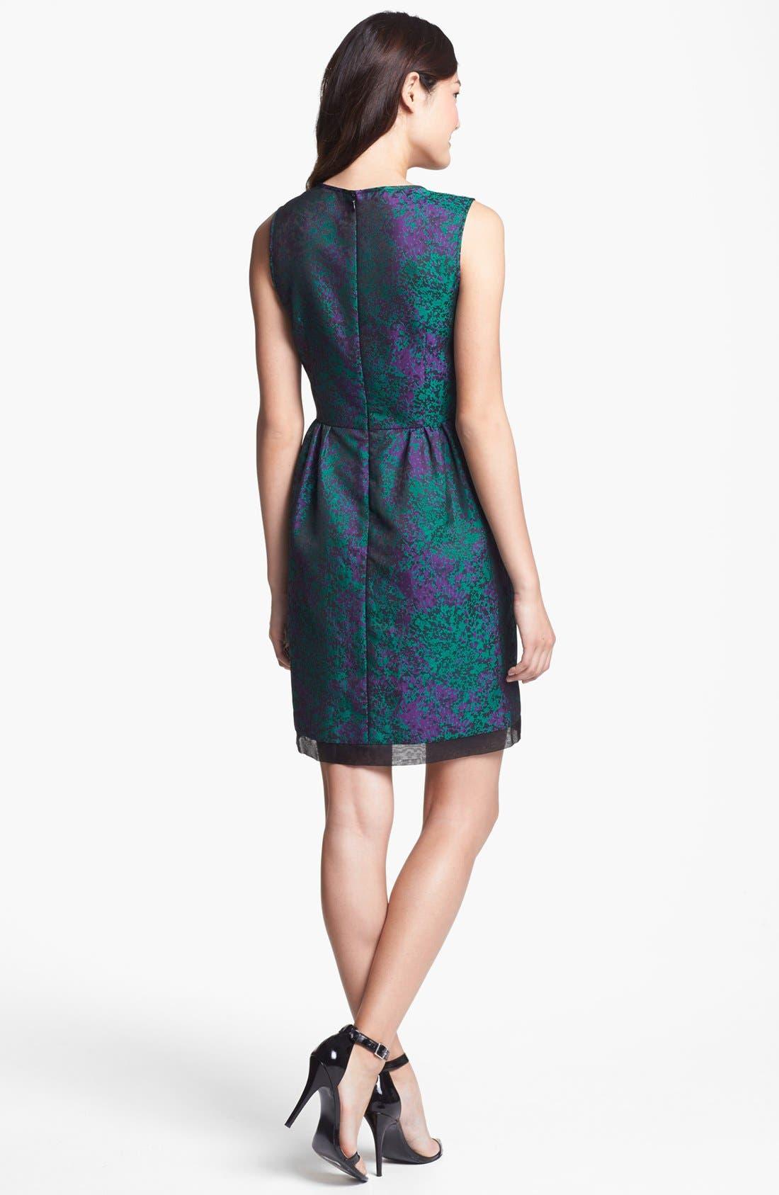 Alternate Image 2  - Ivy & Blu Brocade Fit & Flare Dress