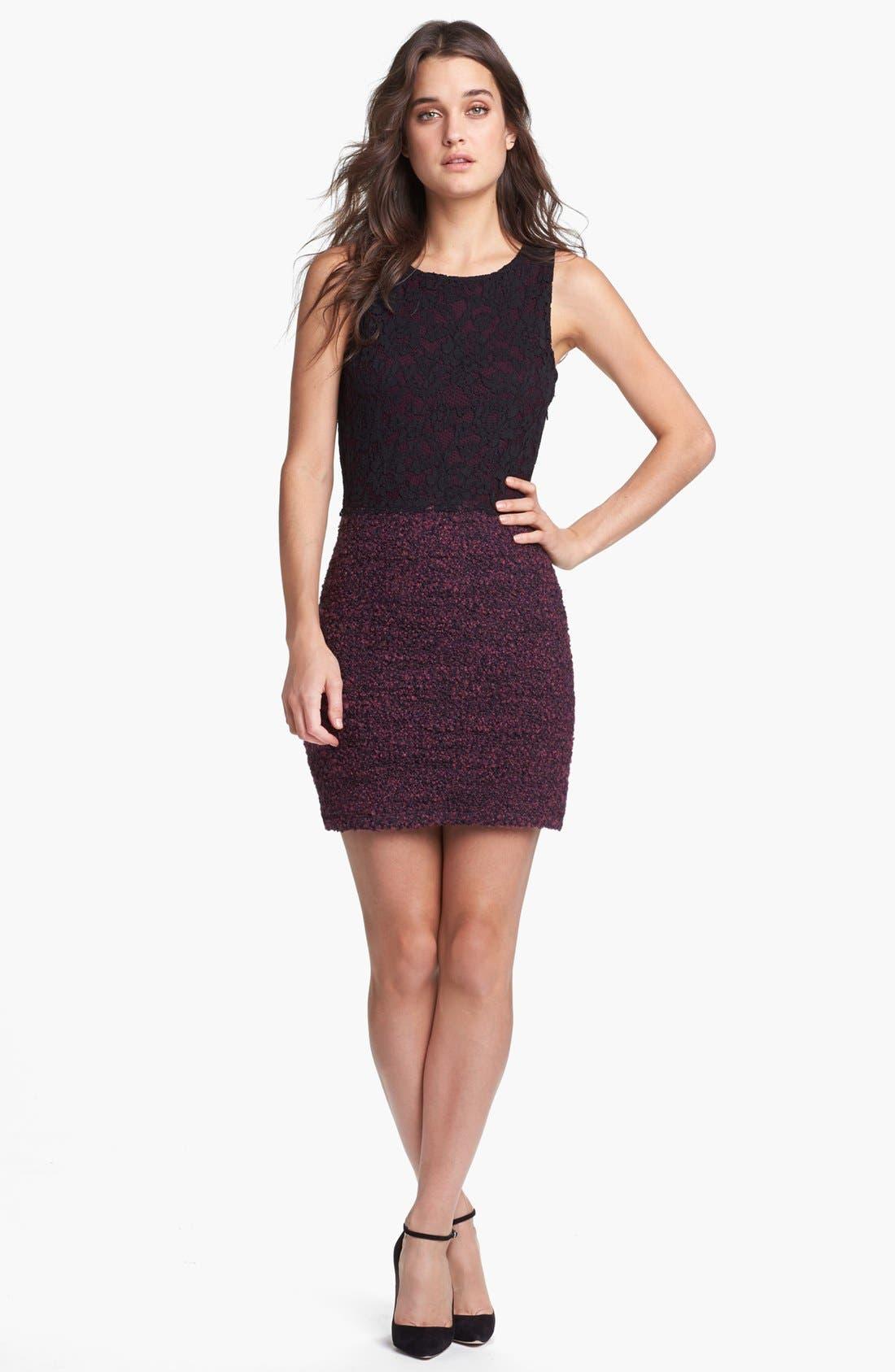 Alternate Image 1 Selected - Bailey 44 'Enshadowed Heart' Lace & Bouclé Dress