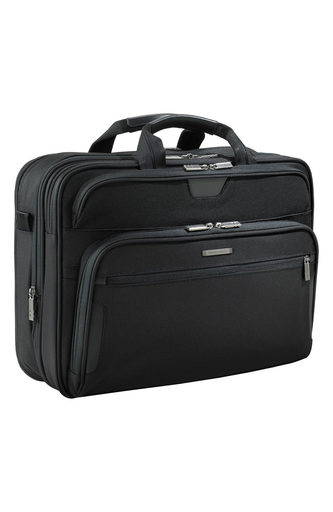 BRIGGS & RILEY Large Ballistic Nylon Expandable Briefcase