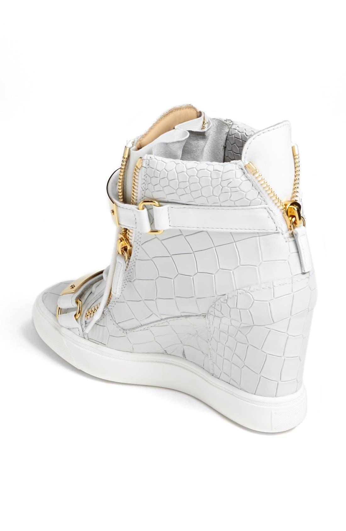 Alternate Image 2  - Giuseppe Zanotti 'Lorenz' High Top Wedge Sneaker