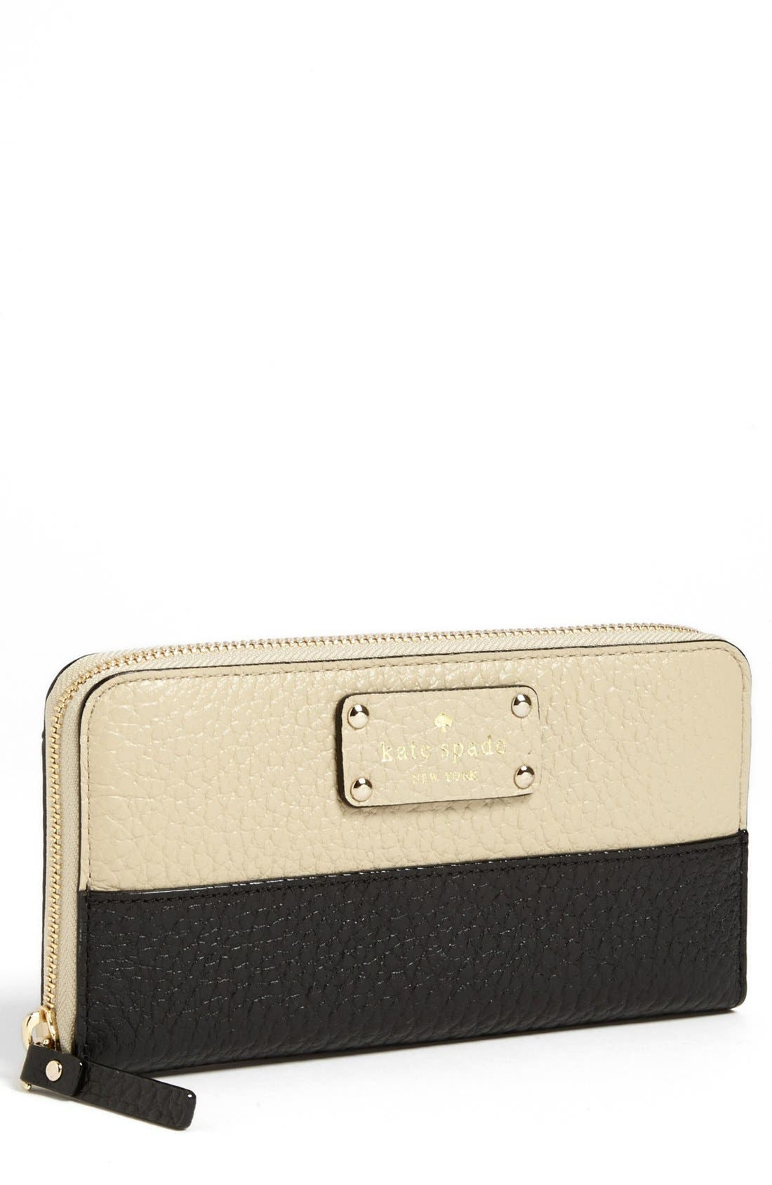 Main Image - kate spade new york 'grove court - lacey' zip around wallet