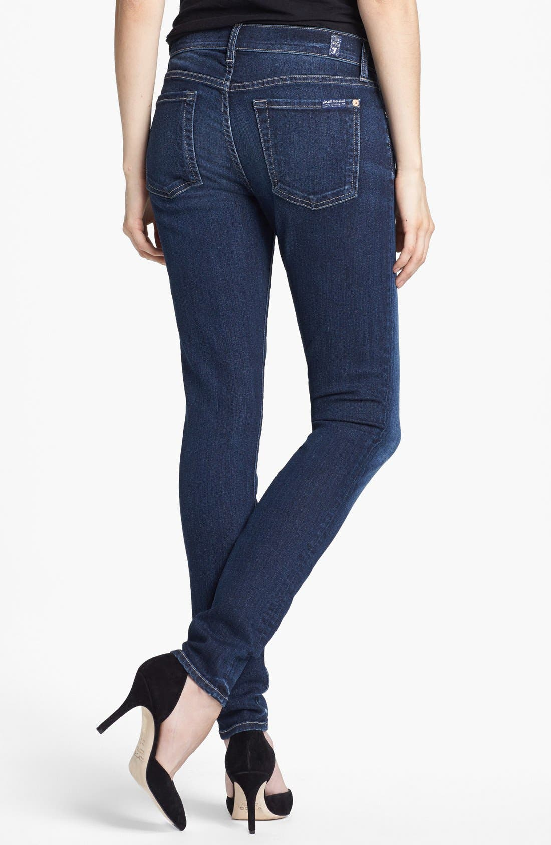 Alternate Image 2  - 7 For All Mankind® 'The Skinny' Stretch Jeans (La Verna Lake)