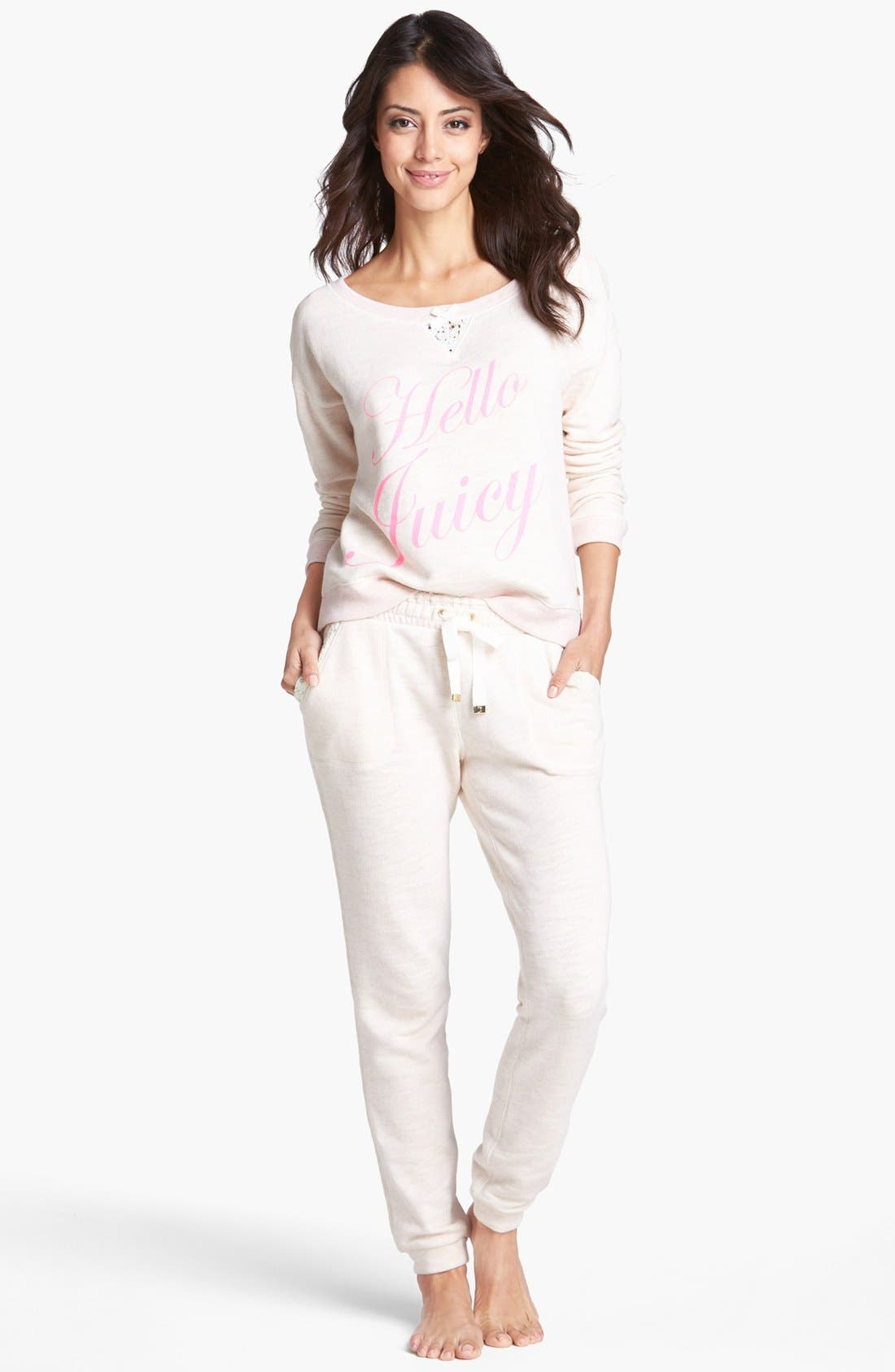 Alternate Image 3  - Juicy Couture 'Hello Sugar' Lace Pullover