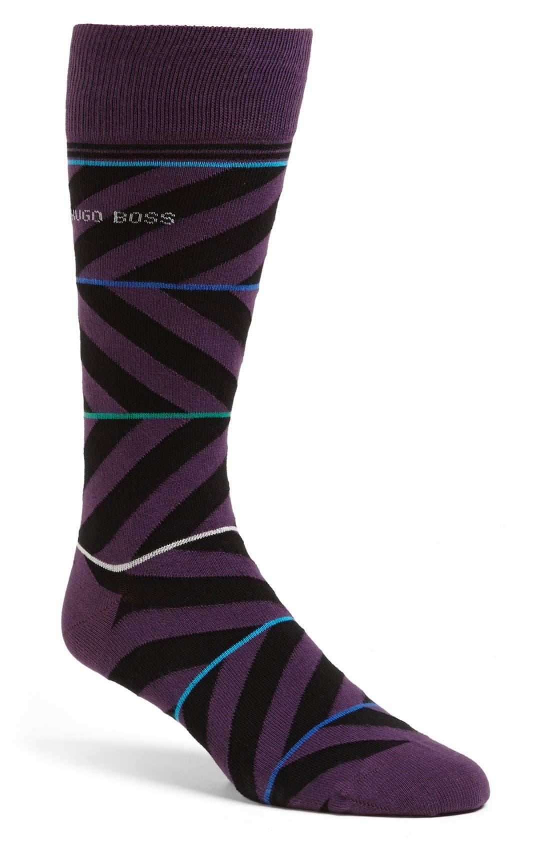 Main Image - BOSS HUGO BOSS Combed Cotton Blend Socks