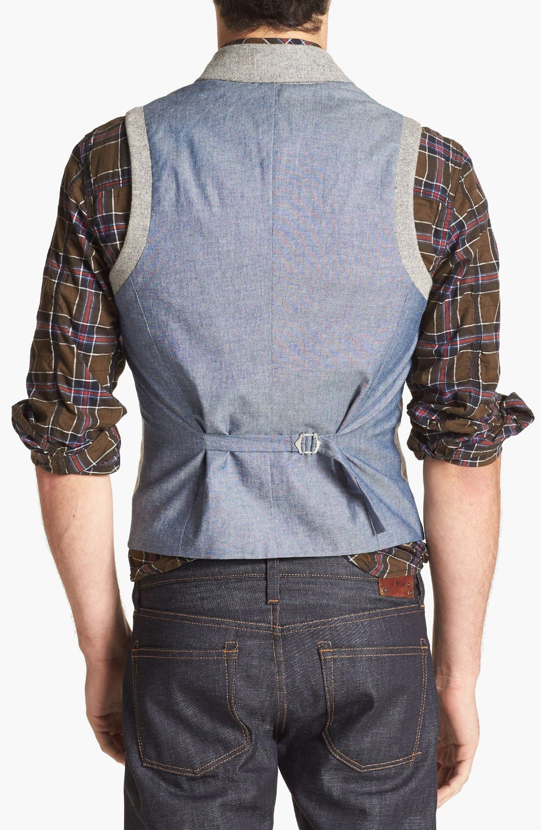 Alternate Image 3  - 1901 Shawl Collar Grey Flannel Vest