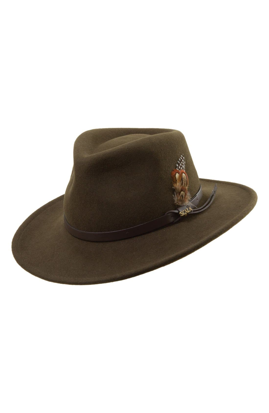 Alternate Image 1 Selected - Scala 'Classico' Crushable Felt Outback Hat