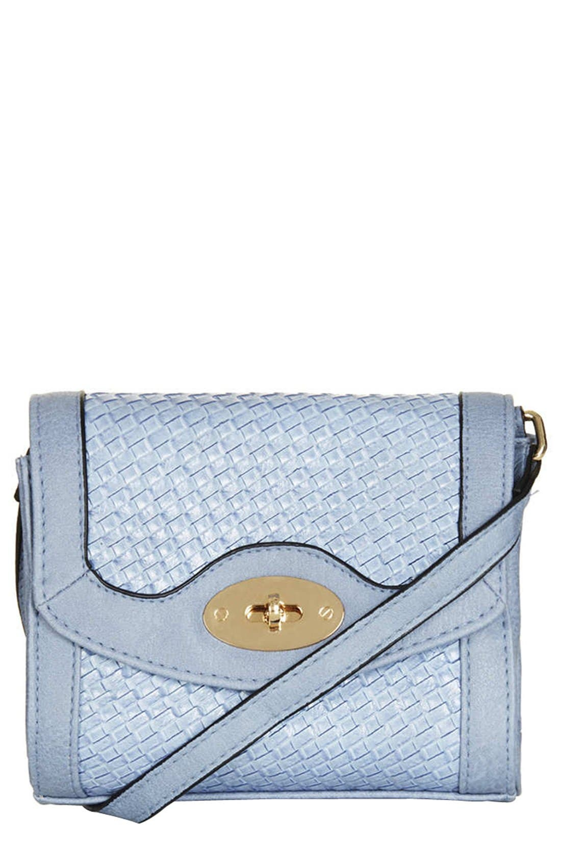 Alternate Image 1 Selected - Topshop Embossed Mini Crossbody Bag