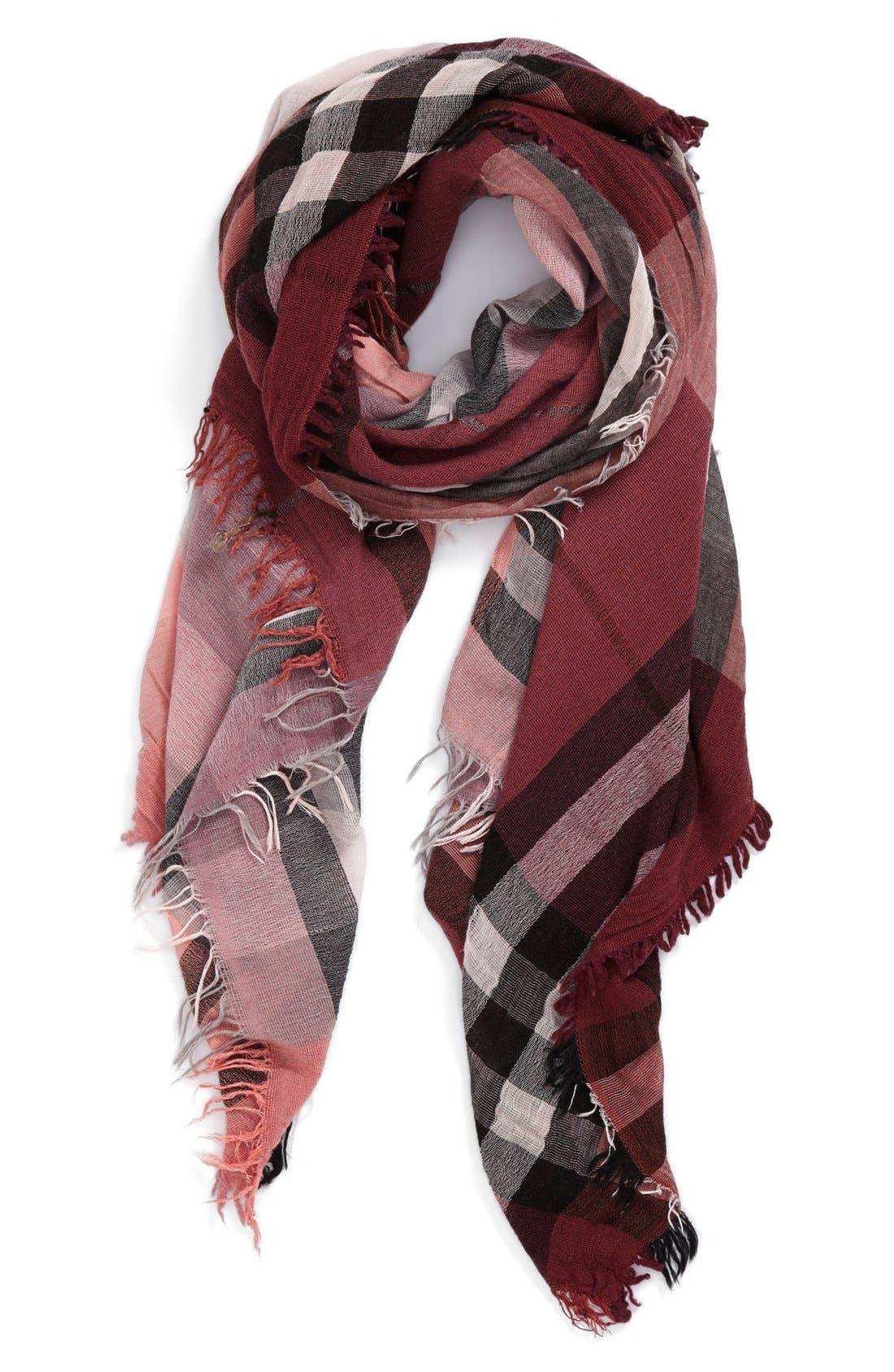 Alternate Image 1 Selected - Nordstrom Plaid Wool Blend Scarf