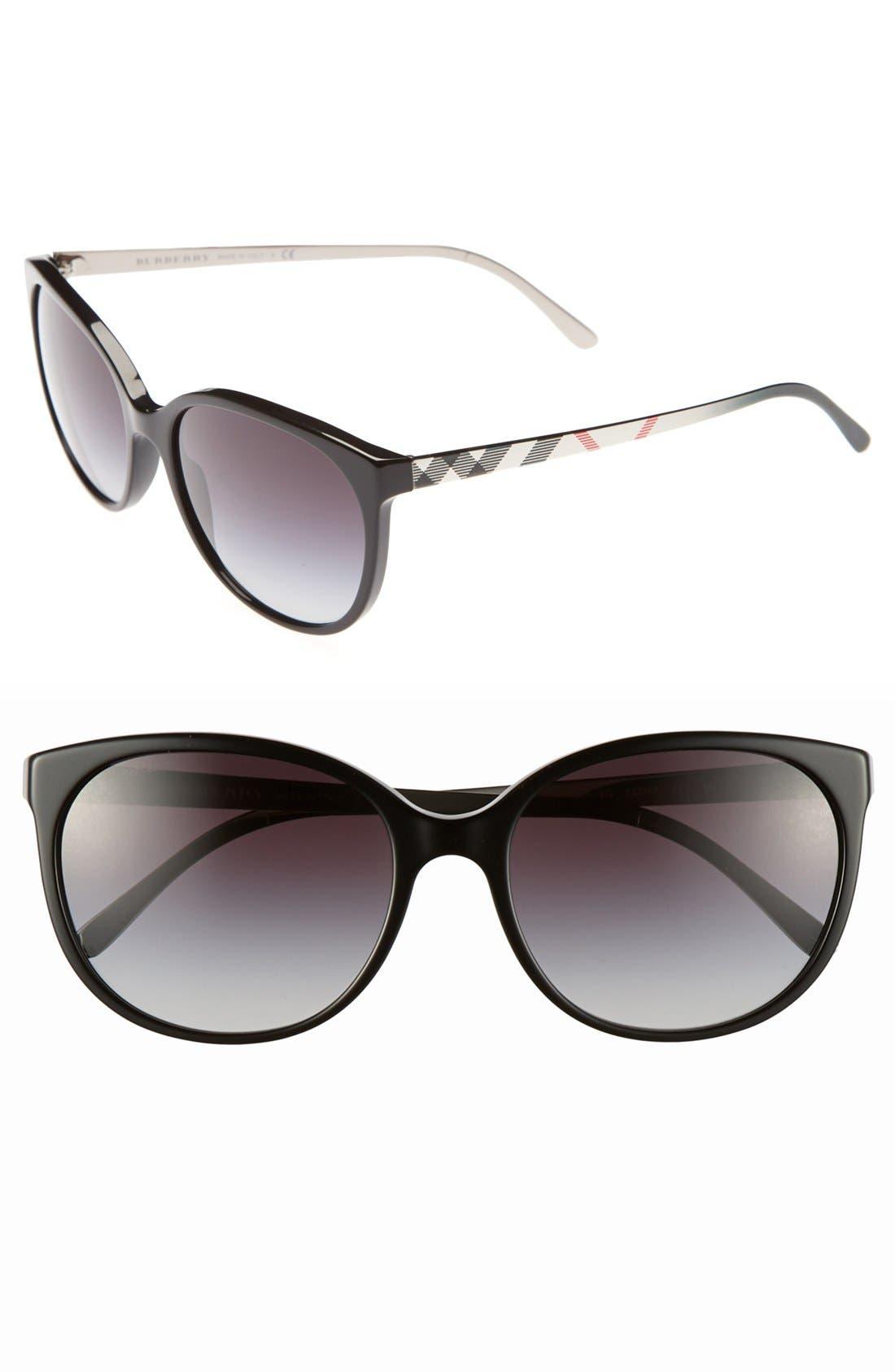 Alternate Image 1 Selected - Burberry 'Spark' 55mm Sunglasses