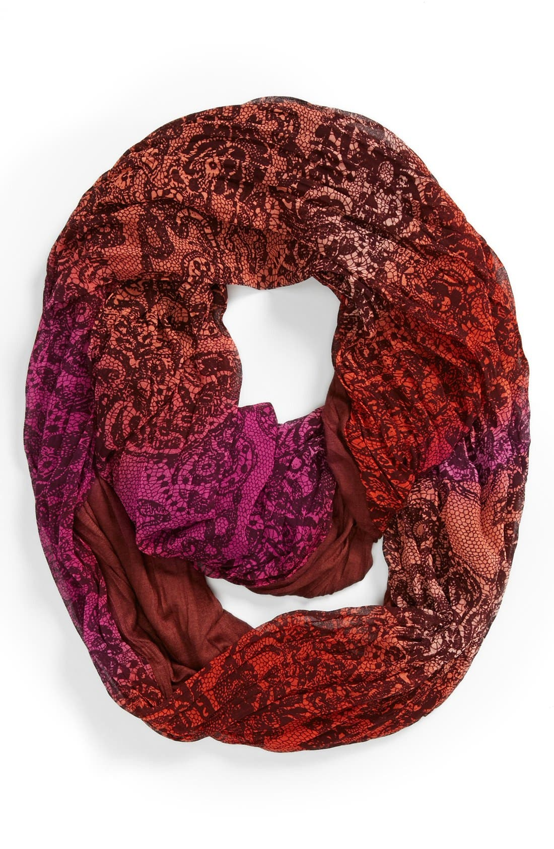 Alternate Image 1 Selected - Collection XIIX Lace Print Infinity Scarf