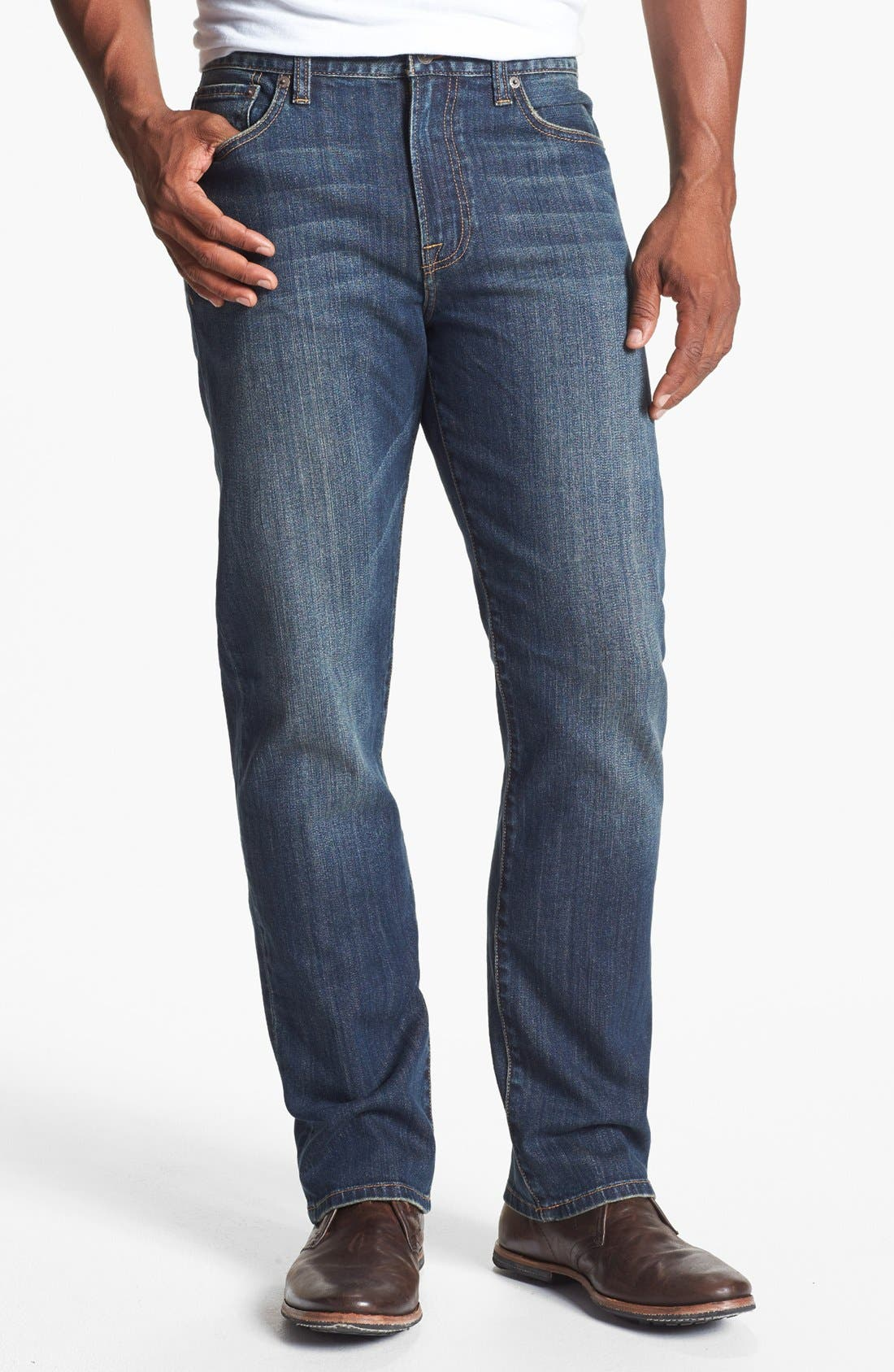 Main Image - Lucky Brand '329 Classic' Straight Leg Jeans (Glacier)