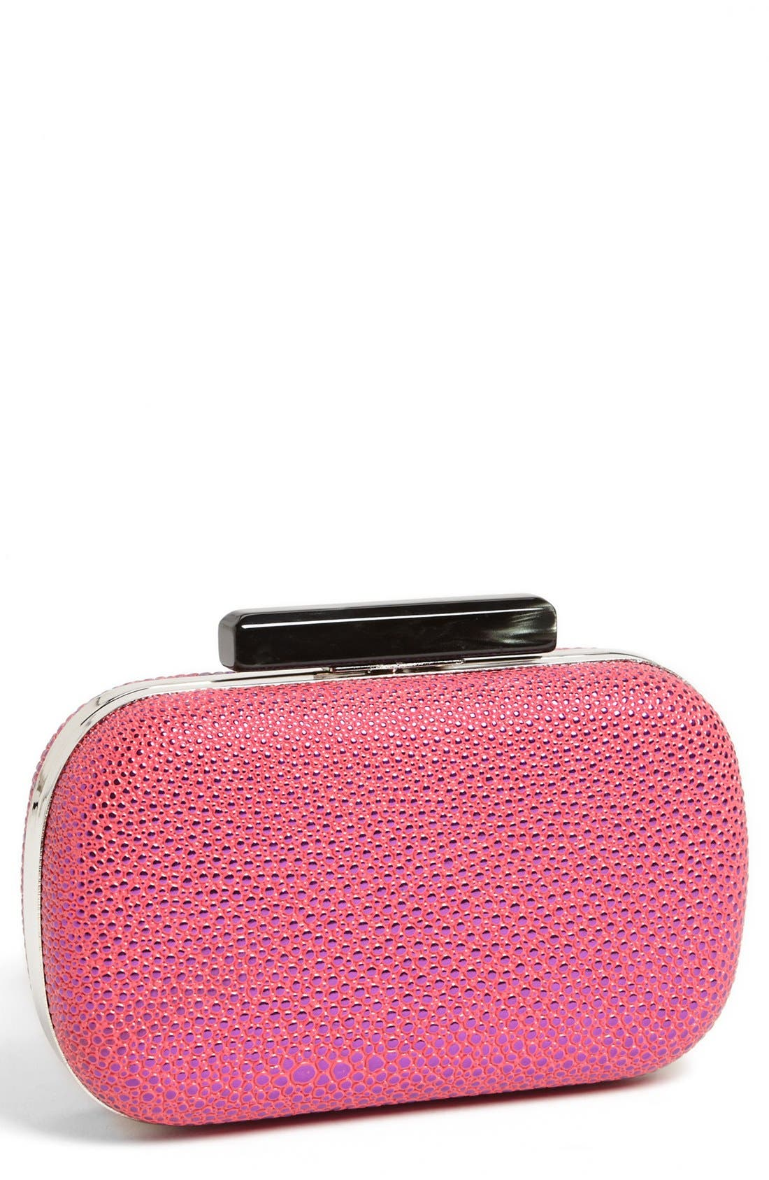 Main Image - Expressions NYC Pebbled Box Clutch