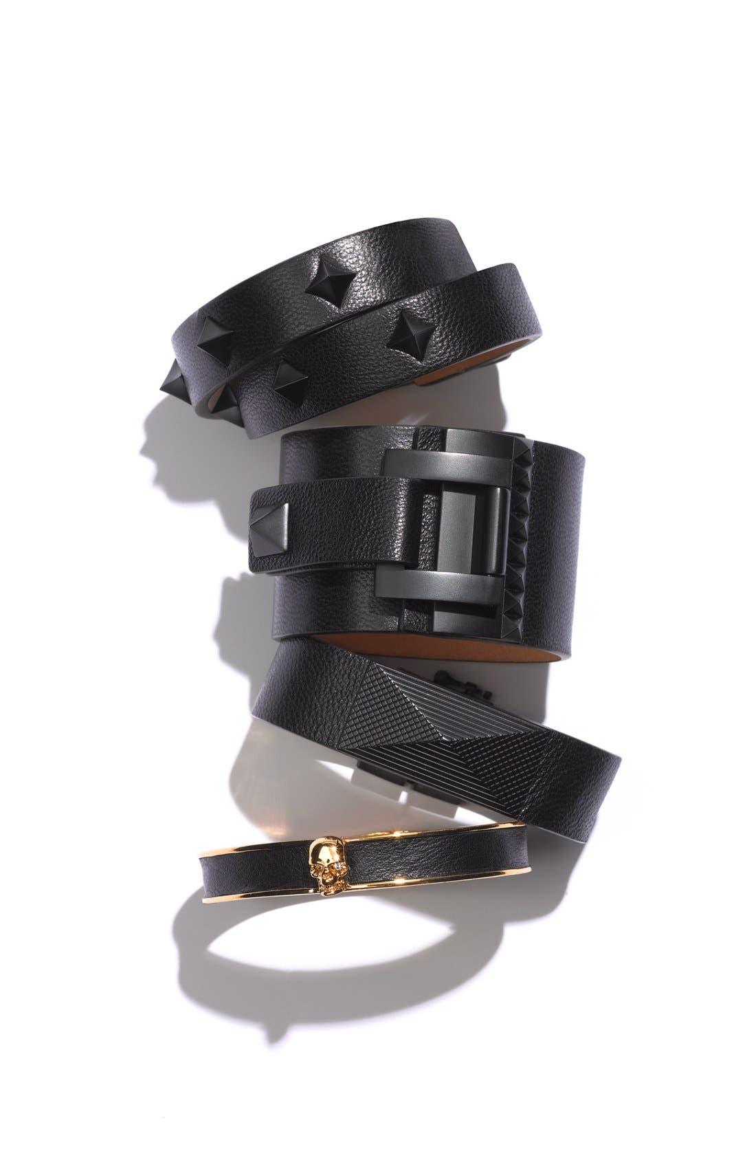 Alternate Image 5  - Vince Camuto 'Tour of Duty' Studded Leather Wrap Bracelet