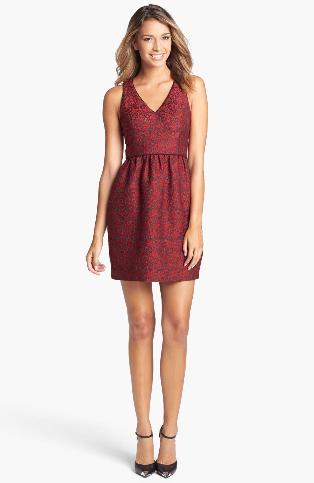Main Image - 4.collective Lace Appliqué Sheath Dress