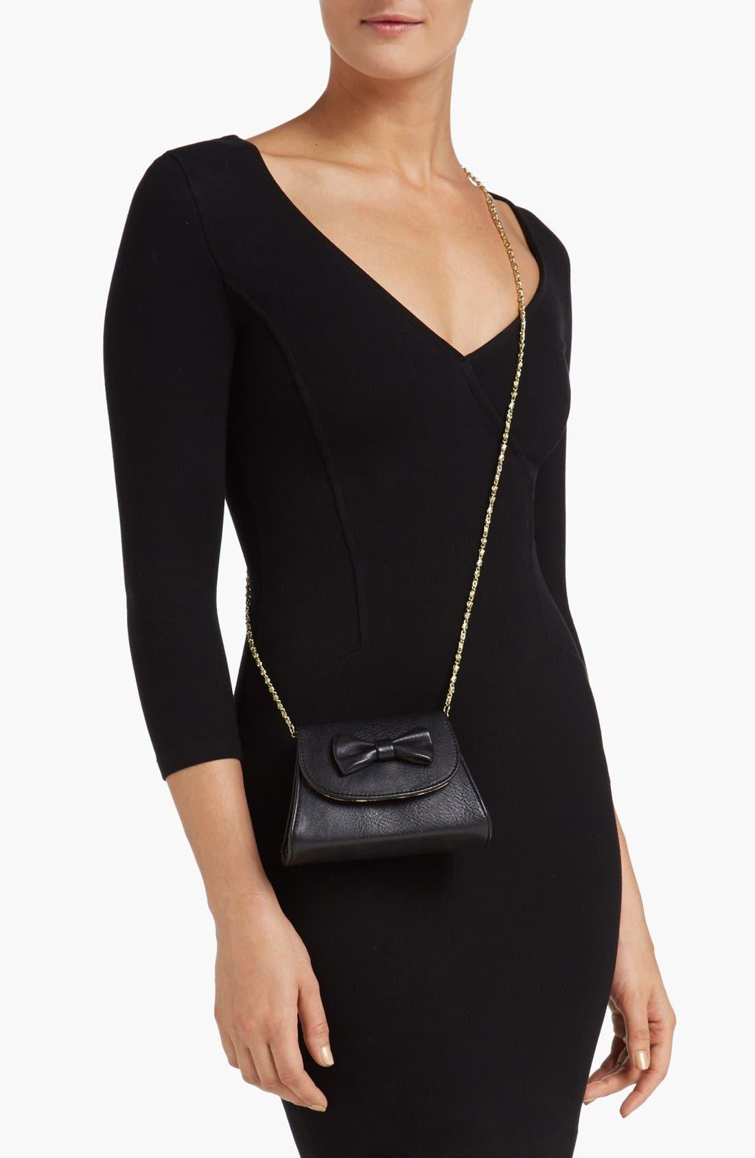 Alternate Image 2  - Lulu Bow Detail Mini Crossbody Bag (Juniors)