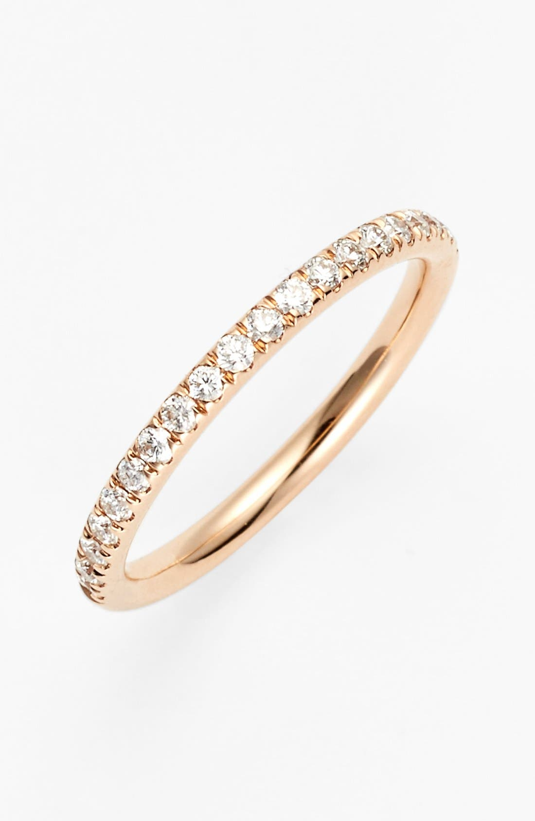 Main Image - Bony Levy 'Stackable' Large Straight Diamond Band Ring (Nordstrom Exclusive)