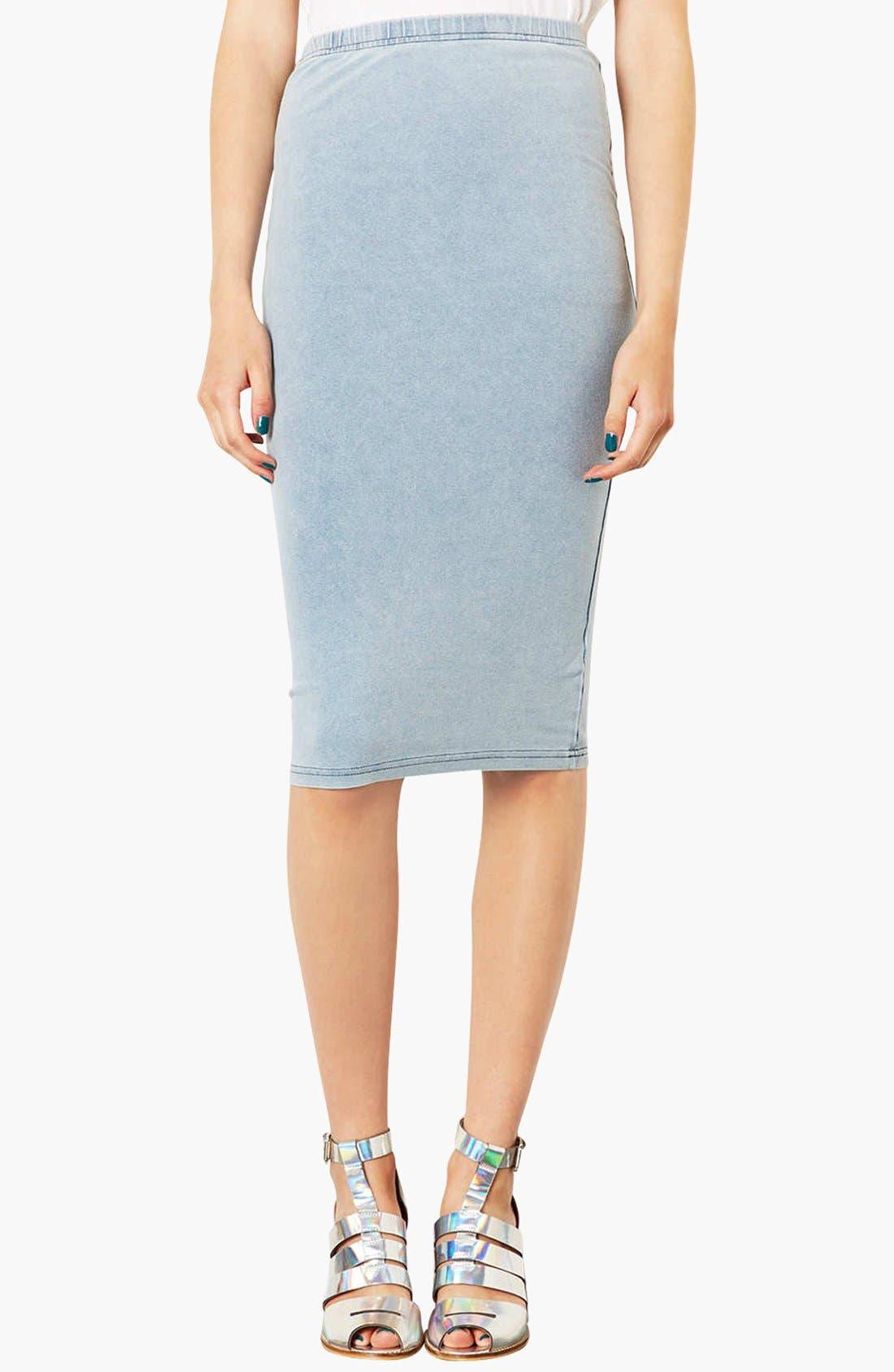 Alternate Image 1 Selected - Topshop 'Denim Look' Tube Skirt