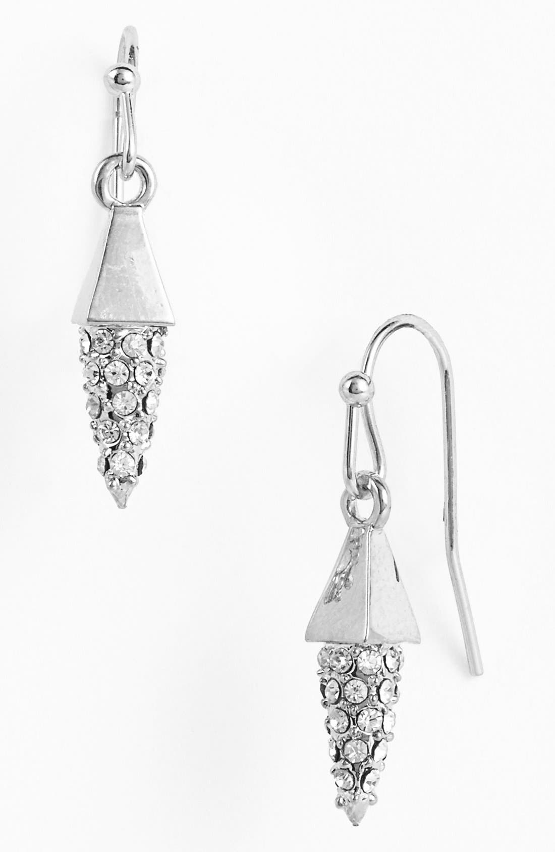 Alternate Image 1 Selected - Vince Camuto 'Flights of Fantasy' Pavé Cone Drop Earrings