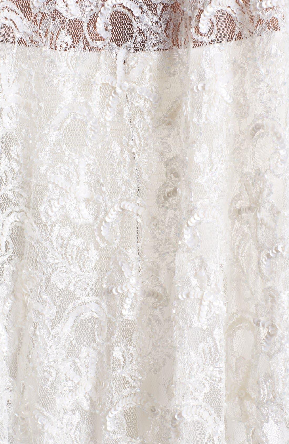 Beaded Lace Shawl,                             Alternate thumbnail 3, color,                             Ivory
