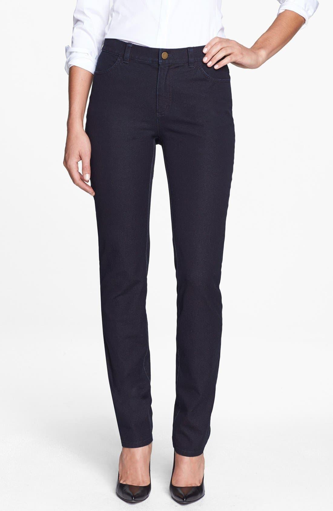 Main Image - Lafayette 148 New York Slim Leg Curvy Stretch Jeans