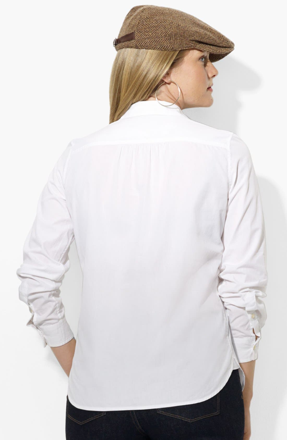 Alternate Image 2  - Lauren Ralph Lauren Cotton Shirt (Plus Size)