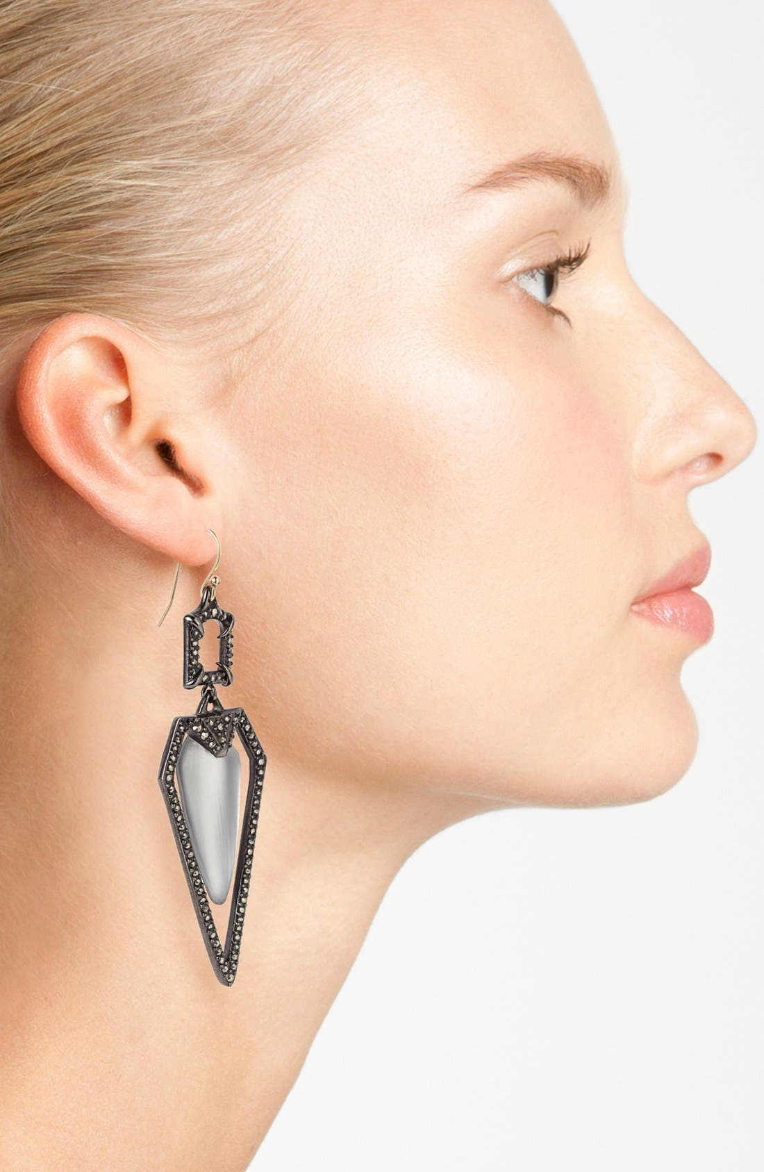 Alternate Image 2  - Alexis Bittar 'Lucite® - Santa Fe Deco' Long Pavé Framed Drop Earrings
