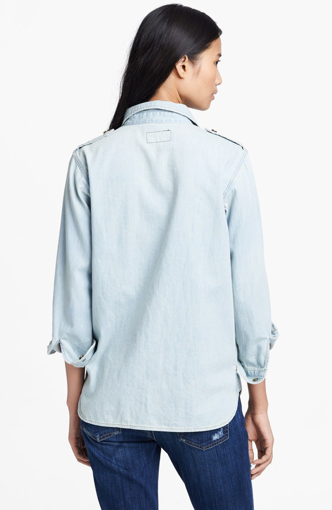 Alternate Image 2  - Current/Elliott 'The Perfect' Button Front Denim Shirt