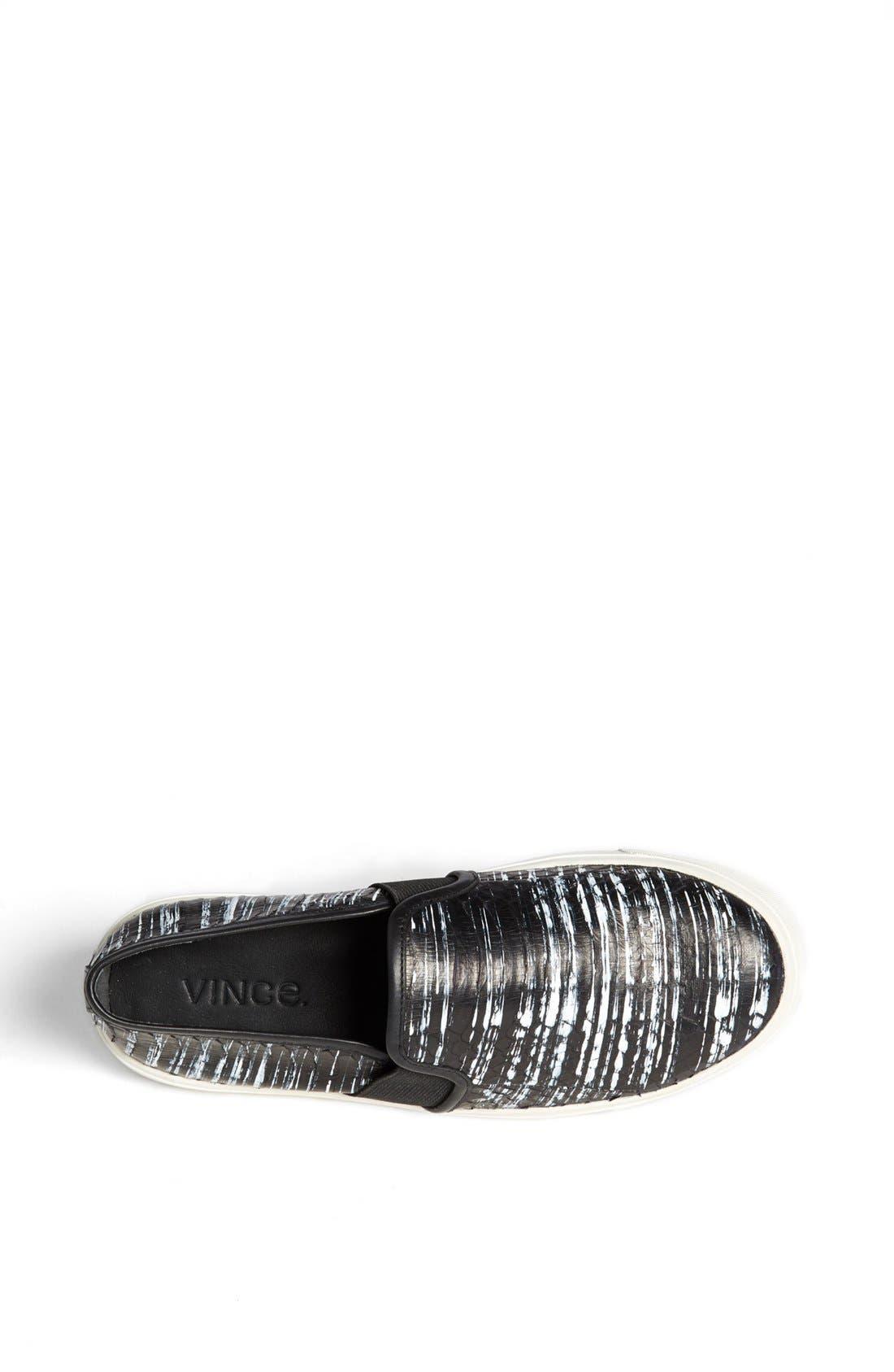 Alternate Image 4  - Vince 'Blair 7' Snakeskin Slip-On Sneaker