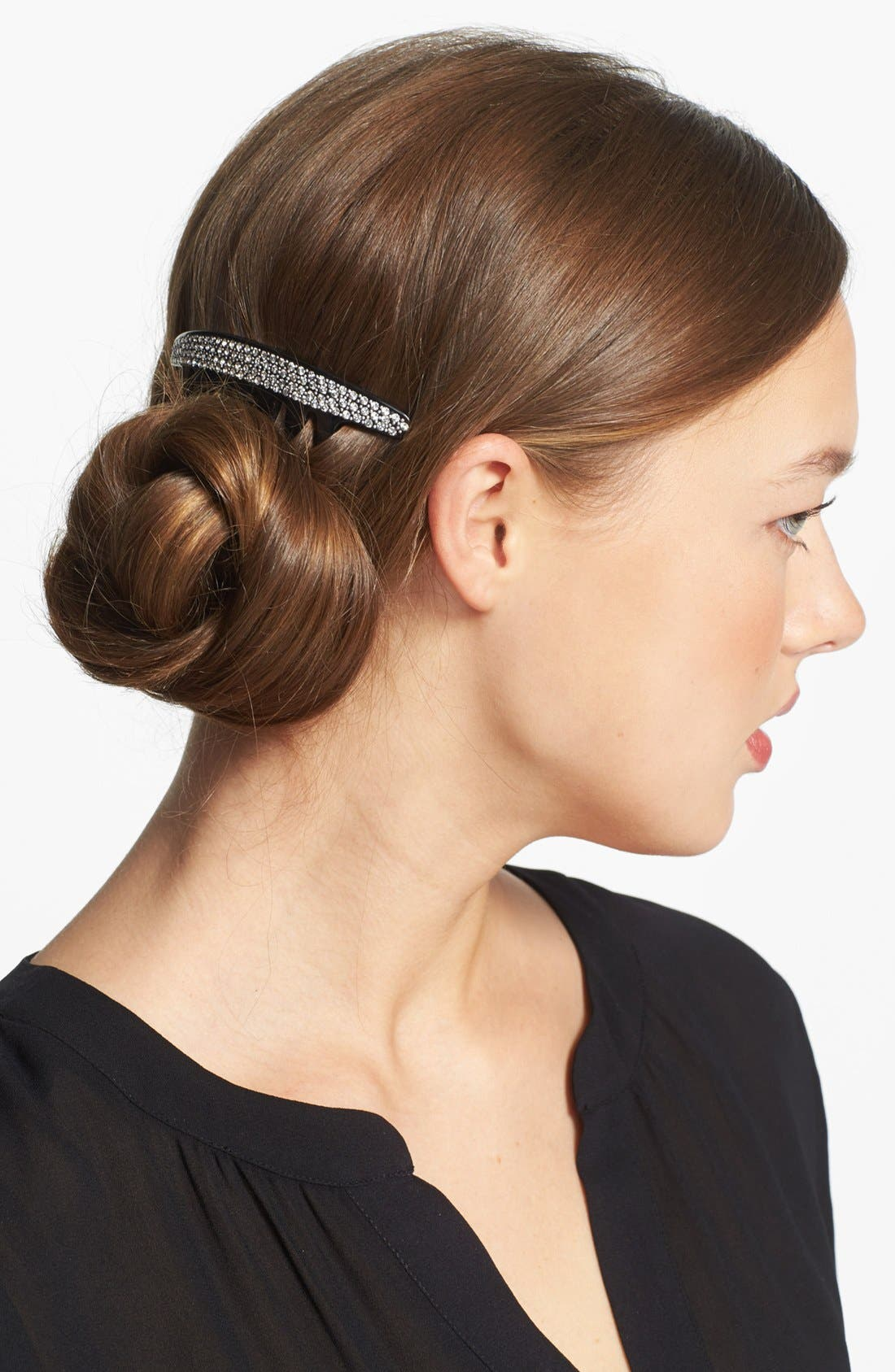 Alternate Image 1 Selected - France Luxe 'Swarovski Pavé' French Twist Comb
