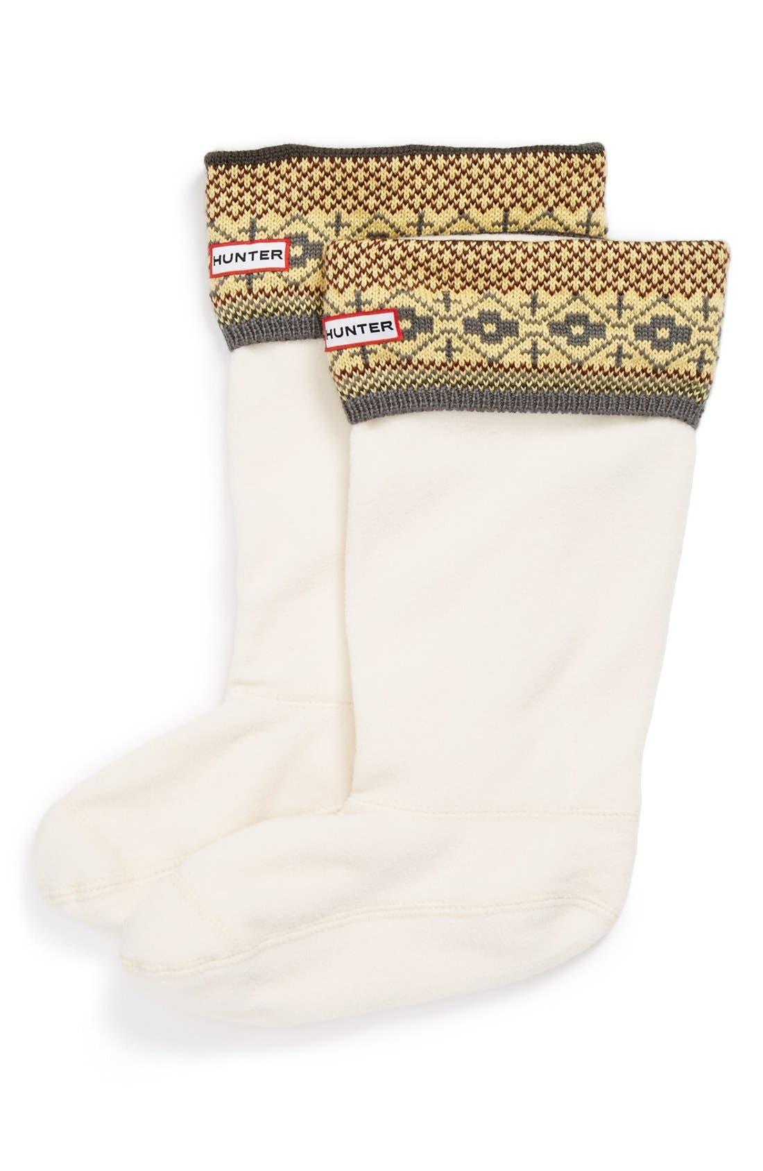 Main Image - Hunter 'Fair Isle' Welly Socks