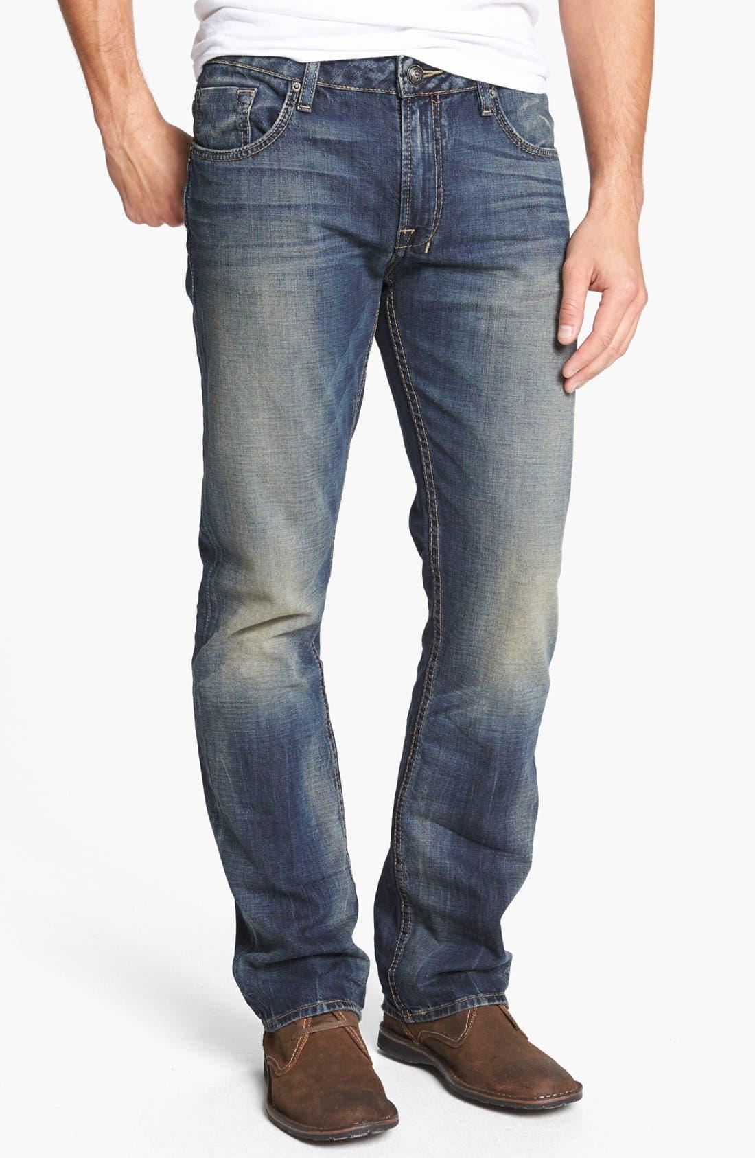 Alternate Image 1 Selected - Buffalo Jeans 'Six' Straight Leg Jeans (Indigo)