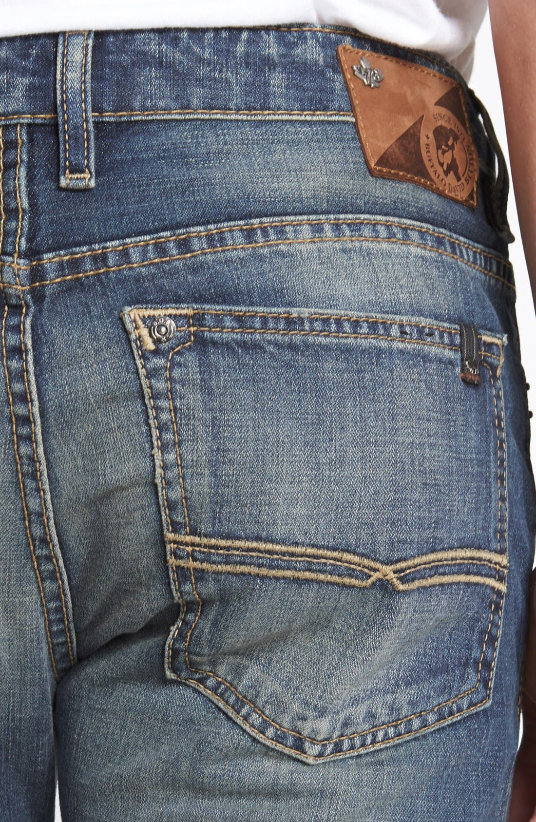 Alternate Image 4  - Buffalo Jeans 'Six' Straight Leg Jeans (Indigo)