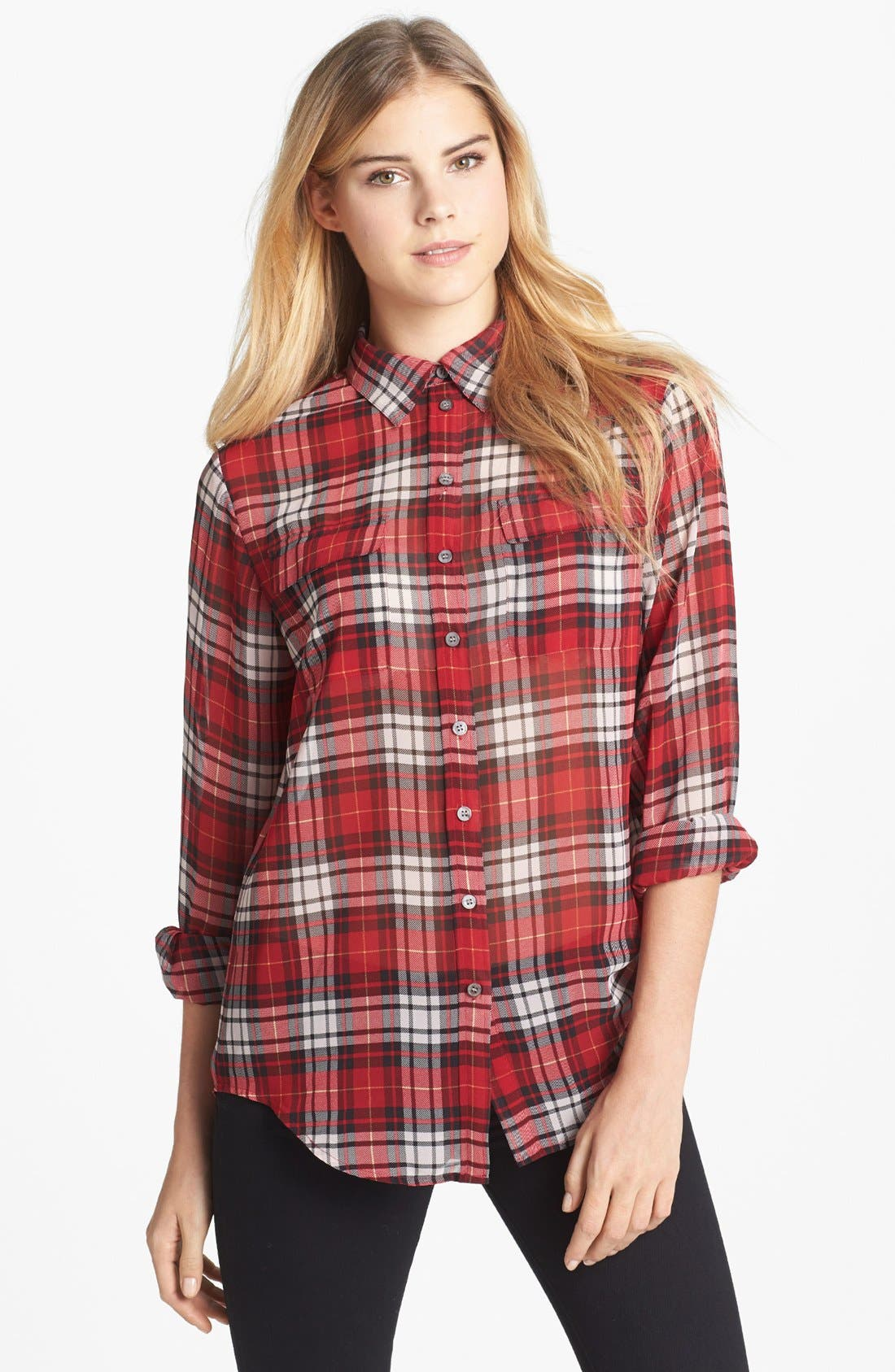 Alternate Image 1 Selected - Two by Vince Camuto Plaid Boy Shirt