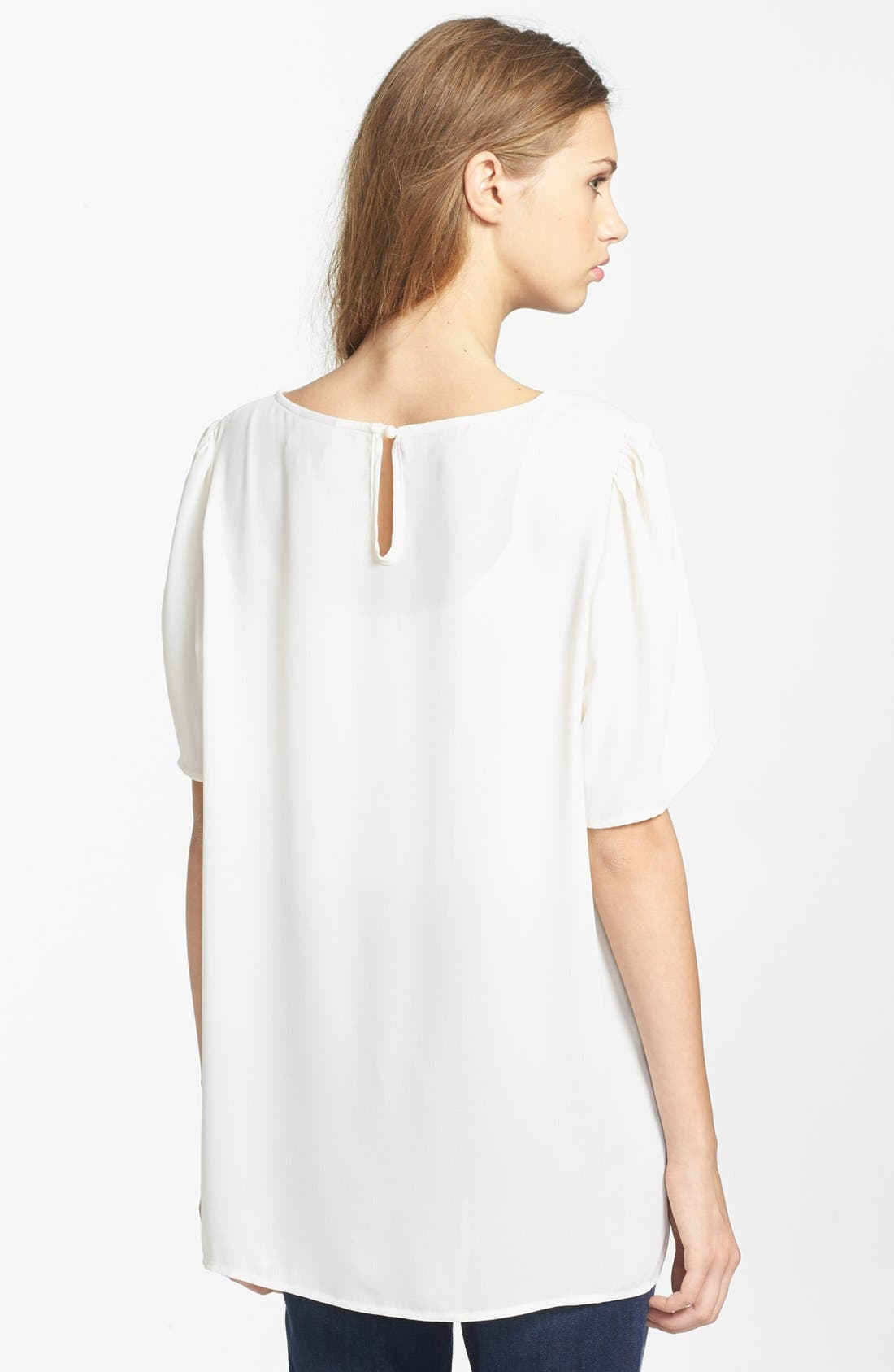 Alternate Image 2  - Bobeau Embellished Front Tee
