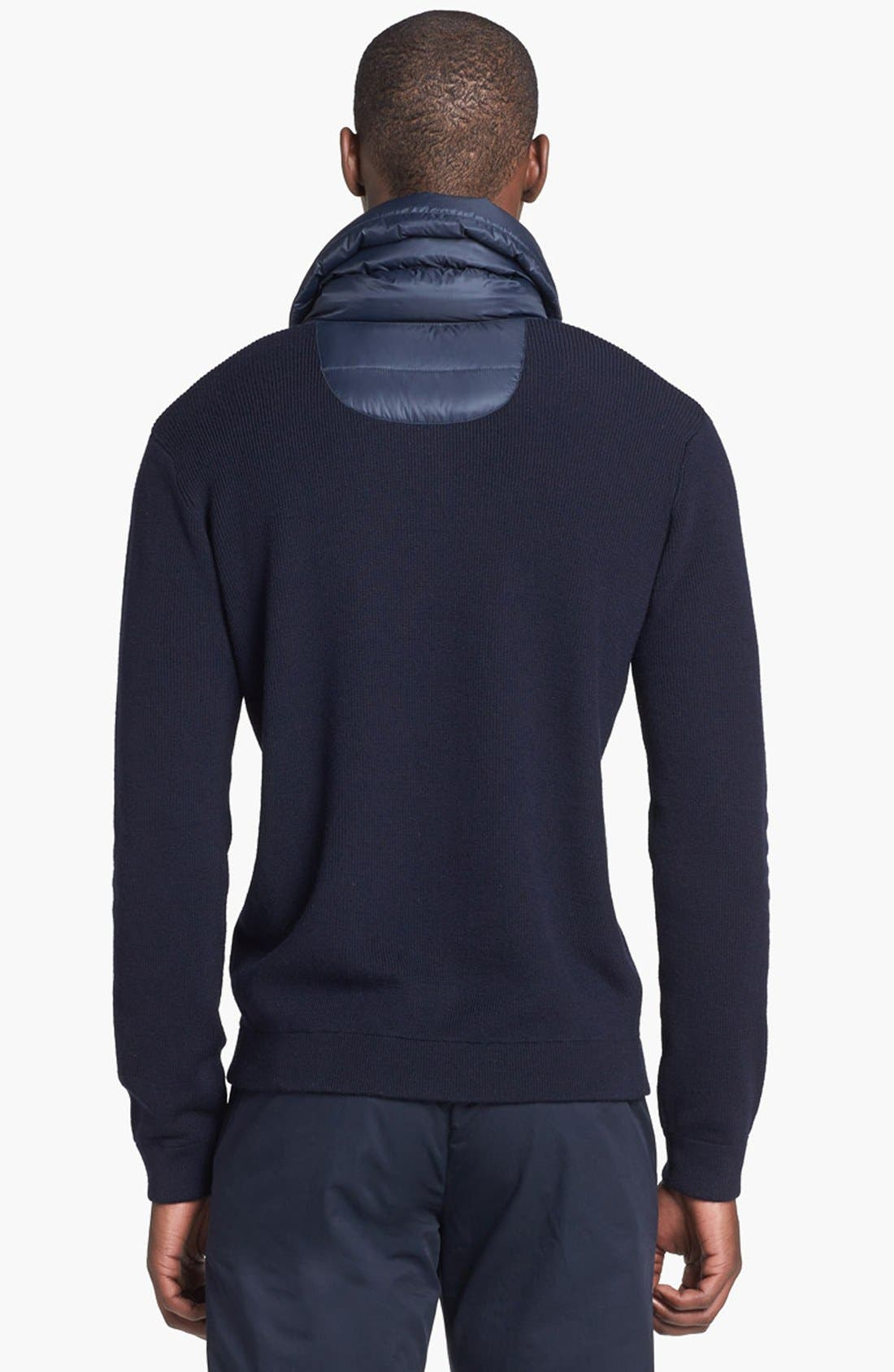 Alternate Image 2  - Zegna Sport Water Repellent Shawl Collar Sweater