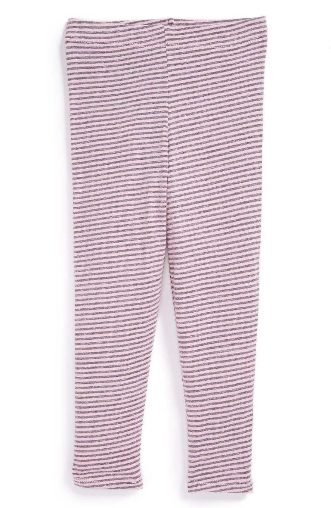Alternate Image 1 Selected - Red Wagon Baby Stripe Leggings (Toddler Girls)