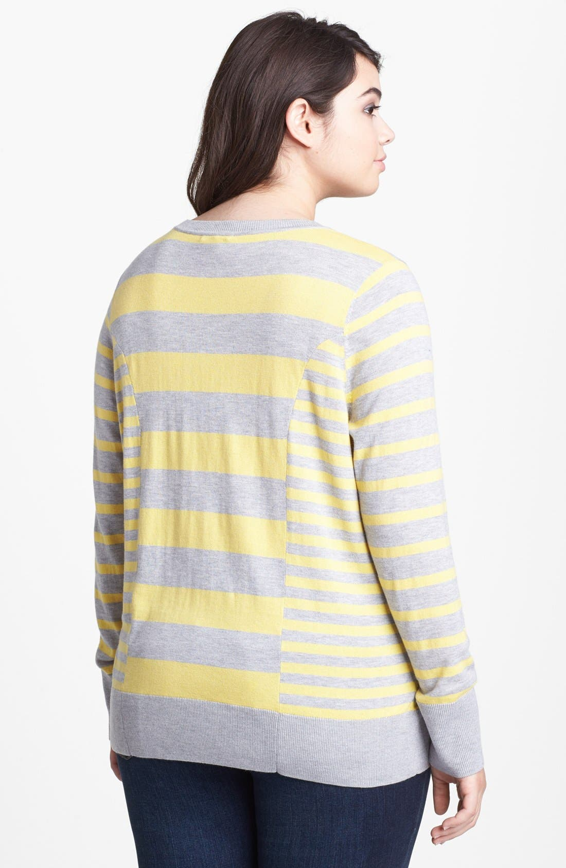 Alternate Image 2  - Halogen® Pattern Sweater (Plus Size)