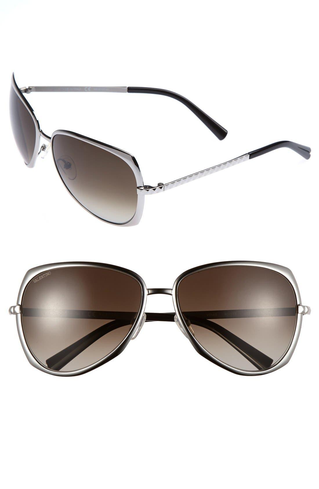 Alternate Image 1 Selected - Valentino 60mm Cat Eye Sunglasses