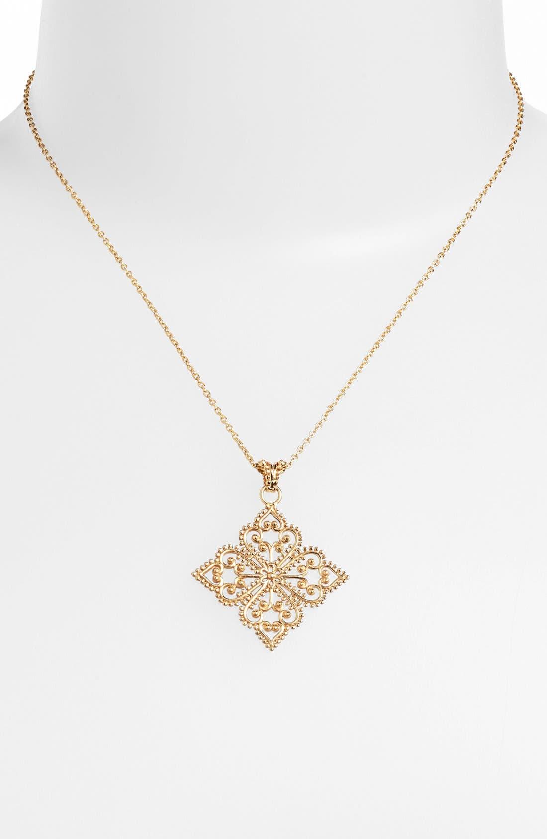 Alternate Image 1 Selected - Argento Vivo 'Anastasia' Pendant Necklace