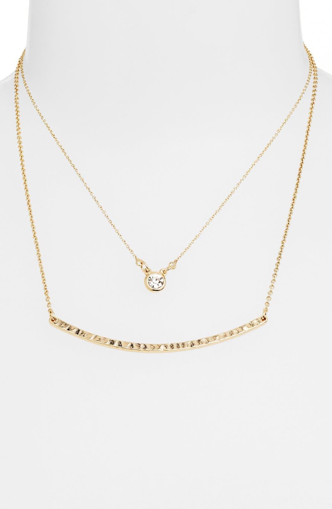 Alternate Image 3  - Stephan & Co. Curved Bar Necklace