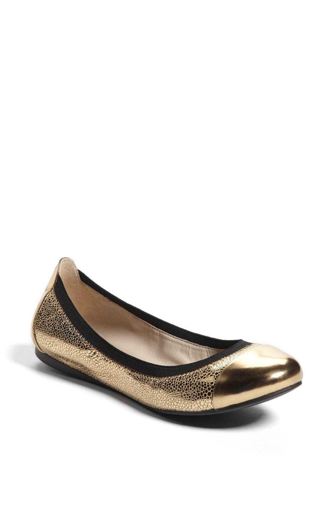 Alternate Image 1 Selected - Vince Camuto 'Elisee' Leather Ballet Flat