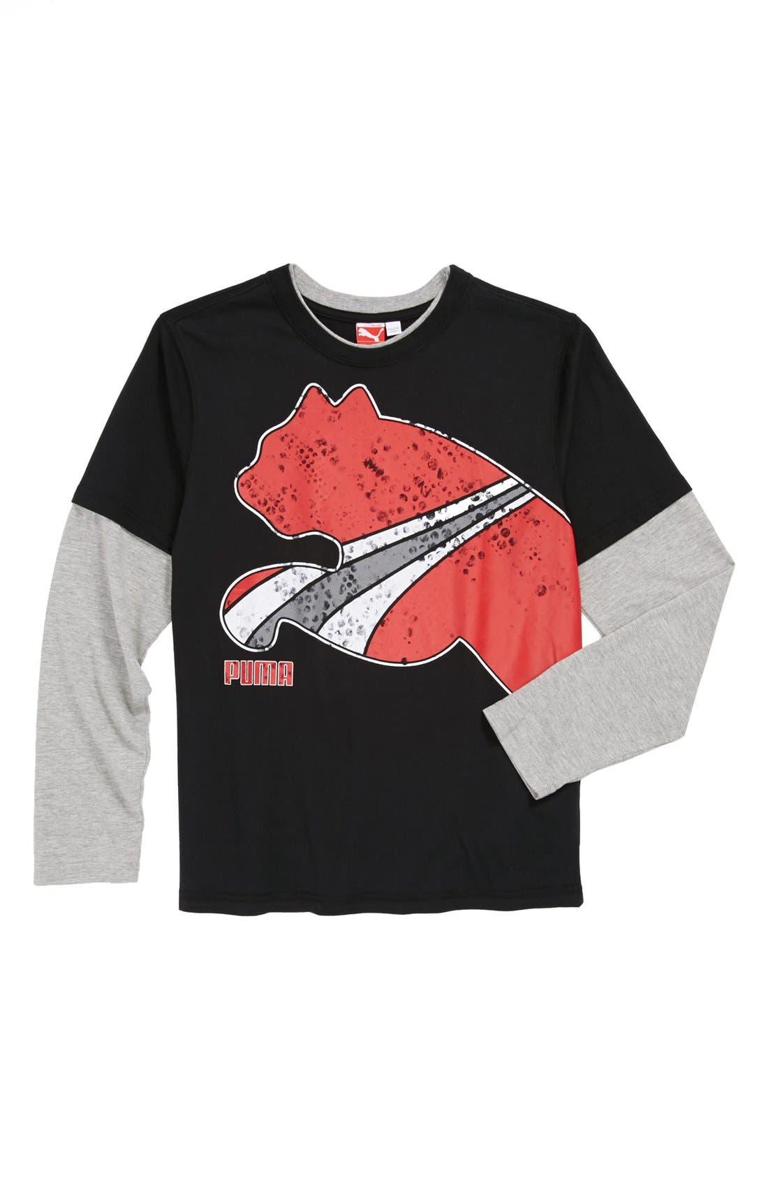 Alternate Image 1 Selected - PUMA 'Foam Stripe' T-Shirt (Little Boys)