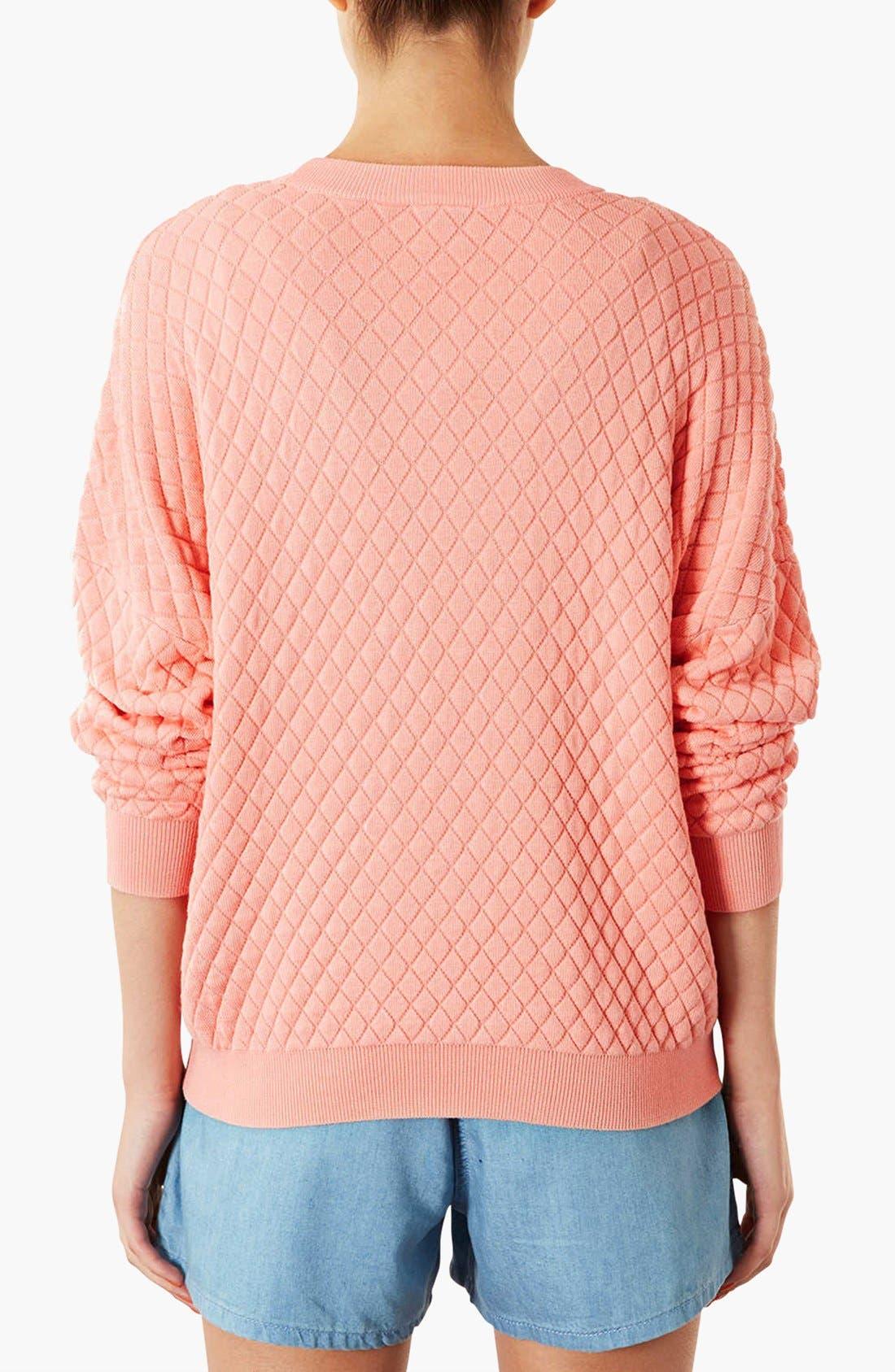 Alternate Image 2  - Topshop Quilted Sweatshirt