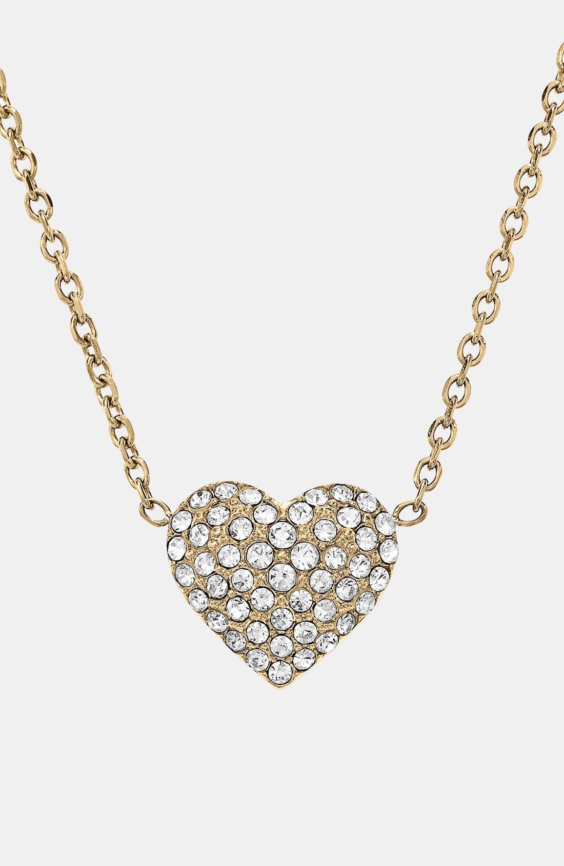 Alternate Image 3  - Michael Kors 'Brilliance' Pavé Heart Necklace