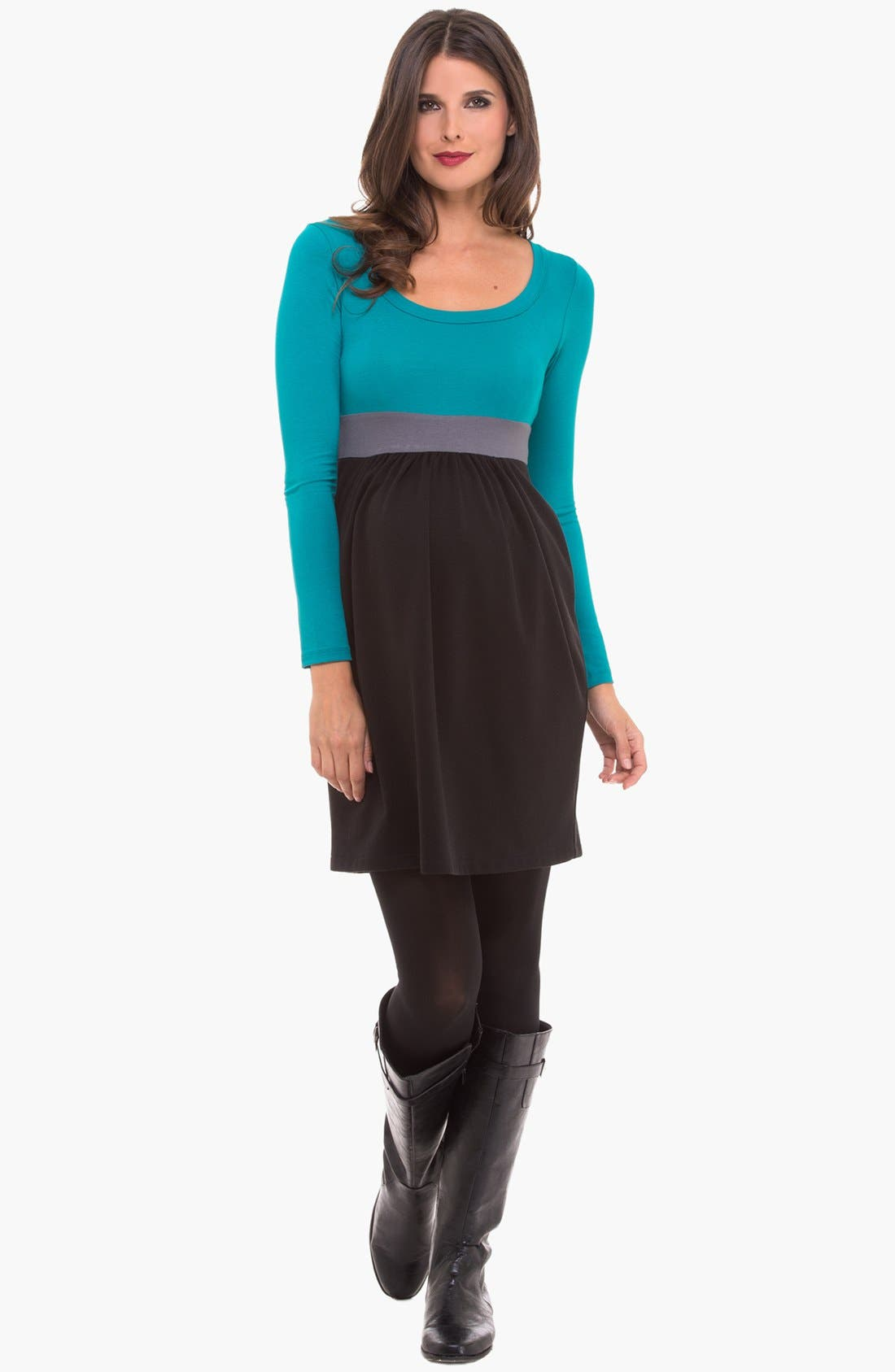 Alternate Image 1 Selected - Olian Colorblock Maternity Dress